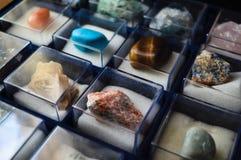 Собрание минералов и драгоценных камней стоковые изображения