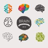 Собрание мозга, творения, значков идеи и бесплатная иллюстрация