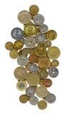 собрание монеток чудесное Стоковые Фото