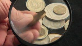 Собрание монеток сток-видео