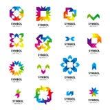 Собрание модулей логотипов вектора абстрактных Стоковое фото RF