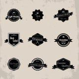 Собрание наградных ярлыков качества и гарантии с ретро VI стоковые изображения