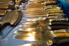 Собрание ножей звероловства, различное в размере Стоковое Фото