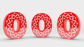 собрание номера украшения 3d красное - 0 стоковая фотография rf