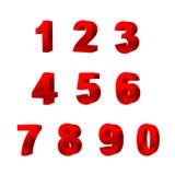 Собрание номеров изолированных на белой предпосылке 3D Стоковая Фотография