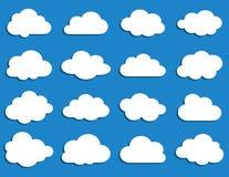 Собрание облаков вектора Стоковое Изображение RF