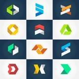 Собрание логотипа Origami Стоковые Изображения