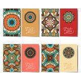 Собрание орнаментальных флористических визитных карточек, Стоковое Фото