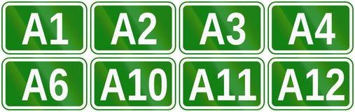 Собрание отметок дороги для шоссе в Румынии Стоковые Фото
