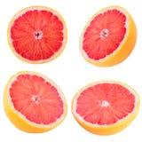 Собрание отрезанного грейпфрута Стоковые Изображения