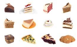 Собрание очень вкусного десерта Стоковые Фото