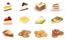 Собрание очень вкусного десерта Стоковое Фото