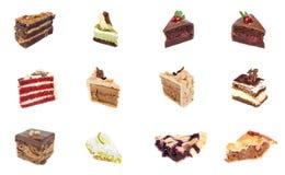 Собрание очень вкусного десерта Стоковое Изображение