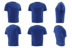 Собрание одежды людей футболки установленное Стоковые Фото