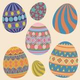 Собрание пасхальных яя Стоковые Изображения RF