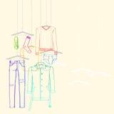 Собрание падения одежд Стоковая Фотография RF