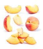 собрание персика отрезанное плодоовощ Стоковое Изображение