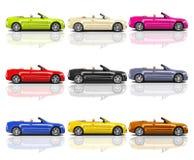 Собрание пестротканых современных автомобилей 3D бесплатная иллюстрация