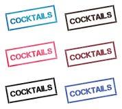 Собрание печати коктейлей прямоугольное бесплатная иллюстрация