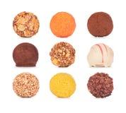 Собрание помадок шоколада Конфеты шоколада Стоковое Фото
