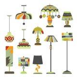 Собрание предметов освещения бесплатная иллюстрация
