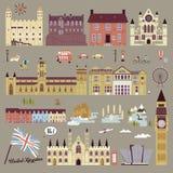 Собрание привлекательностей Великобритании иллюстрация вектора