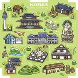 Собрание привлекательностей Кореи бесплатная иллюстрация
