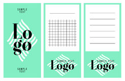 Собрание примечаний логотипа и текста образца Стоковое Фото