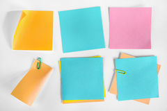 Собрание примечаний чистого листа бумаги. Стоковые Фото