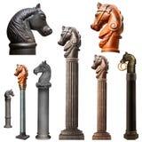 Собрание прицепляя столба лошади Нового Орлеана Стоковое Изображение RF