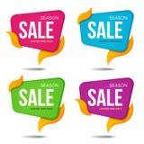 Собрание продажи обозначает стикеры знамен ценников значками Стоковая Фотография RF