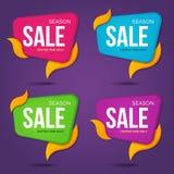 Собрание продажи обозначает стикеры ценников значками Стоковая Фотография