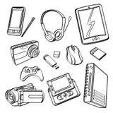 Собрание продуктов цифров Стоковое Изображение
