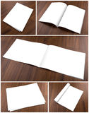 Собрание пустого каталога, брошюры, кассет, насмешки книги вверх дальше Стоковое фото RF