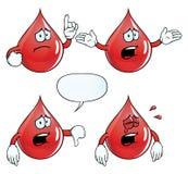 Плача комплект падения крови иллюстрация штока