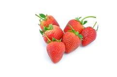 Собрание плодоовощей клубники различное форменного аранжированного внутри Стоковые Фотографии RF