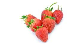 Собрание плодоовощей клубники различное форменного аранжированного внутри Стоковое Изображение RF