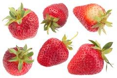 Собрание плодоовощ клубники на белизне Стоковые Изображения