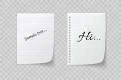 Собрание различных белых бумаг, листьев для ярлыка готового для вашего сообщения также вектор иллюстрации притяжки corel иллюстрация штока