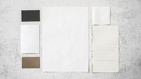 Собрание различных белых бумаг стоковое фото