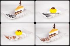 Собрание различных тортов на белой предпосылке каждое одно sho Стоковое фото RF