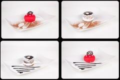 Собрание различных тортов на белой предпосылке каждое одно sho Стоковая Фотография RF
