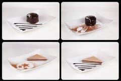 Собрание различных тортов на белой предпосылке каждое одно sho Стоковые Фото