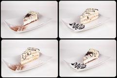 Собрание различных тортов на белой предпосылке каждое одно sho Стоковое Фото