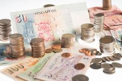 Собрание различных валют от стран глобус Стоковое Изображение RF