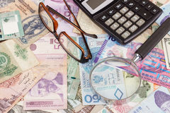 Собрание различных денег Стоковое Изображение RF