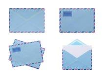 Собрание различных конвертов изолированных на белизне Стоковое Фото