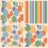 Собрание различных красочных безшовных абстрактных картин иллюстрация штока