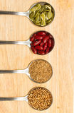 Собрание различных пищевых ингредиентов Стоковые Изображения