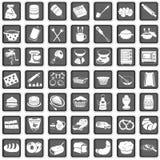 Иконы выпечки Стоковое Изображение RF